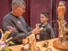 2015 Artistry in Wood, Dayton carving show. Show and candid photos. Butch Ckark talks carving with grandson, Alex Kolb 12 yrs old.
