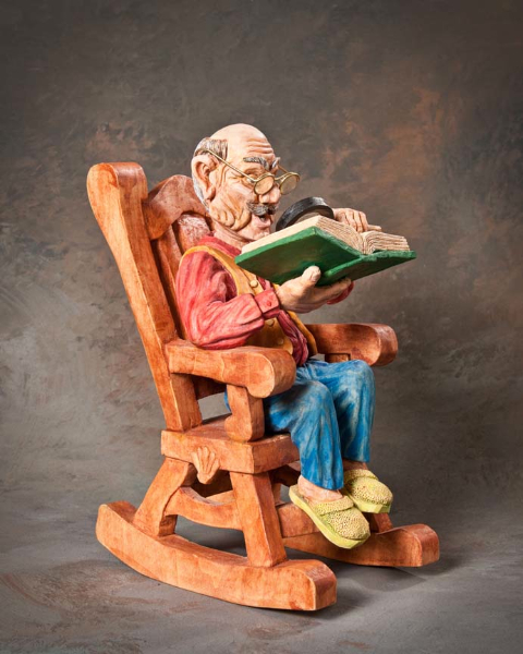 "Single Human 10in and Over 3rd Place - ""Rocking Grandpa"" by David Borg, Garland TX"