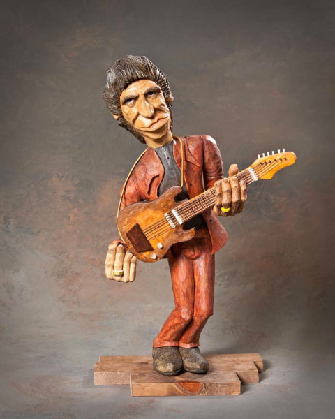 "Single Human 10in and Over 4th Place - ""Stones Lead Guitarist"" by Cary Flora, Culver IN"