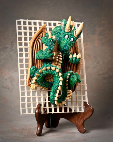 "Group Animal 2nd Place - ""Dragon Hatching Baby"" by David Borg, Garland TX"
