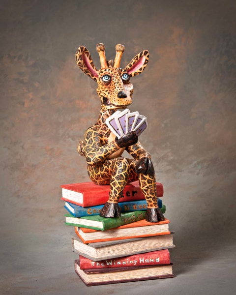 "Third Best of Show ""Gambling Giraffe"" by David Borg, Garland TX"