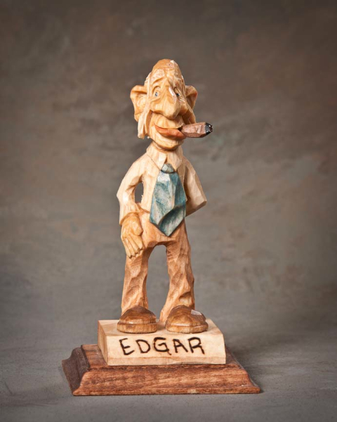 "Single Human Under 10in 3rd Place - ""Uncle Edgar"" by Bart Wilson, Guyton GA"