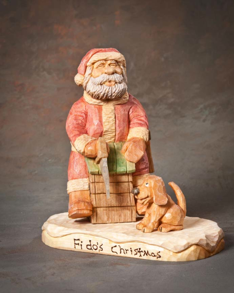 "Santa 2nd Place - ""Fidos Christmas"" by Roger Stegall, Mayflower AR"