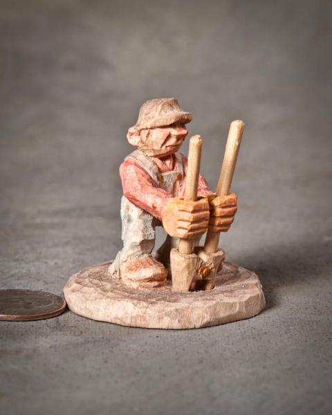 """Miniature 2nd Place - """"Post Hole Digger"""" by Bill Jenkins, Marshfield MO"""