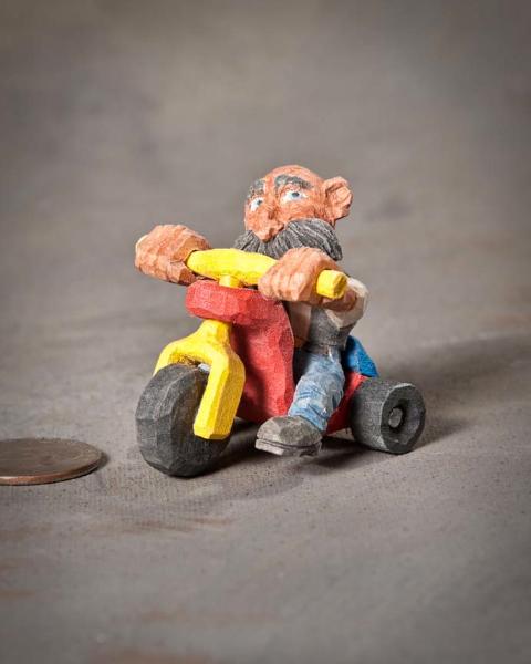 """Miniature 3rd Place - """"Biker Dude"""" by Doug Wilson, Keller TX"""