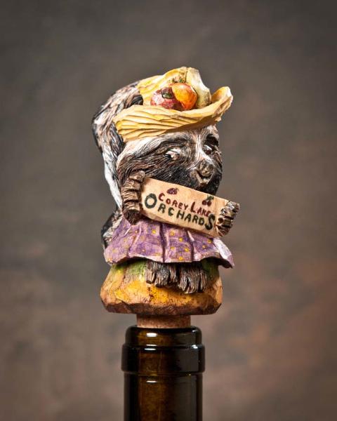 """Bottlestopper 2nd Place - """"Corey Lake Pole Cat"""" by Robert Hershey, Lititz PA"""
