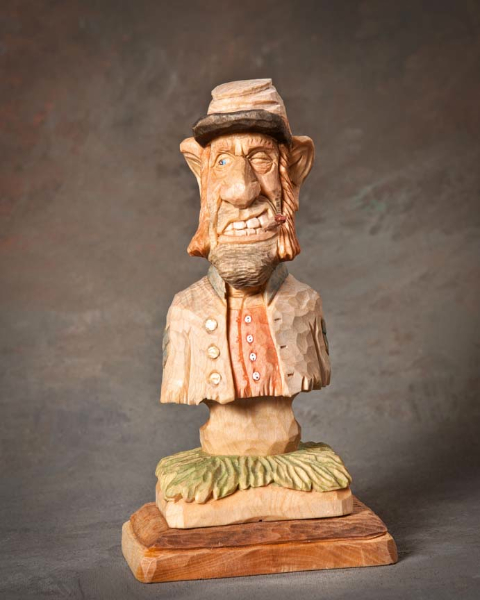 "Bust 1st Place - ""Confederate Soldier"" by Roger Stegall, Mayflower AR"