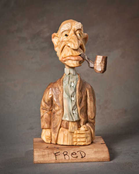 "Bust 2nd Place - ""Fred"" by Bart Wilson, Guyton GA"