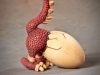 "Miscellaneous 5th Place - ""Red Dragon Backing Out of Egg"" by David Borg, Garland TX"