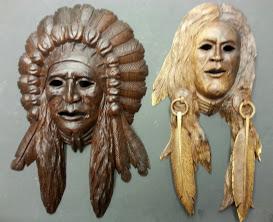 Indian Masks -Gene Webb