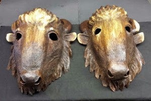 Bison Masks -Gene Webb